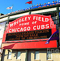 Chicago Cubs Marquee Sign by Thomas Woolworth