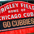 Chicago Cubs Wrigley Field by Christopher Arndt