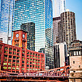 Chicago Downtown At Lasalle Street Bridge by Paul Velgos