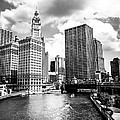 Chicago Downtown At Michigan Avenue Bridge Picture by Paul Velgos