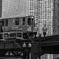 Chicago El And Cityscape  by John McGraw