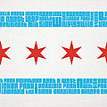 Chicago Flag Neighborhoods by Mike Maher