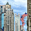 Chicago - Flags Along Michigan Avenue by Susan Savad