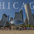 Chicago Illinois Bean Letters by David Haskett II