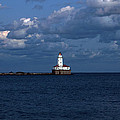 Chicago Illinois Harbor Lighthouse Early Evening Usa by Sally Rockefeller