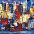 Chicago In The Evening by Kathleen Patrick