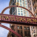 Chicago Jewelers Row Sign  by Paul Velgos
