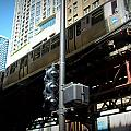 Chicago L Track Train 2 by Anita Burgermeister