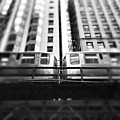 Chicago L Train In Black And White by Paul Velgos