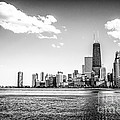 Chicago Lakefront Skyline Black And White Picture by Paul Velgos