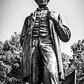 Chicago Lincoln Standing Statue In Black And White by Paul Velgos