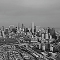 Chicago Looking North 01 Black And White by Thomas Woolworth