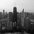 Chicago Looking South 01 Black And White by Thomas Woolworth