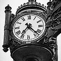 Chicago Macy's Marshall Field's Clock In Black And White by Paul Velgos