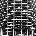 Chicago Marina City Parking Bw by Thomas Woolworth