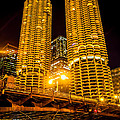 Chicago Marina City Towers At Night Picture by Paul Velgos