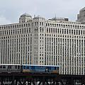 Chicago Merchandise Mart And Cta El Train by Thomas Woolworth