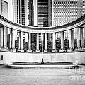 Chicago Millennium Monument In Black And White by Paul Velgos