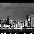 Chicago Panorama At Night by Sebastian Musial
