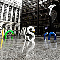 Chicago Picasso In The Rain by Anthony Doudt