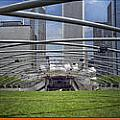 Chicago Pritzker Music Pavillion Triptych 3 Panel by Thomas Woolworth