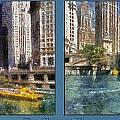 Chicago River 2 Panel by Thomas Woolworth