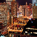 Chicago River At Night by Thomas Firak