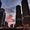 Chicago River Sunset 003 by Lance Vaughn