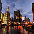 Chicago River Twilight 001 by Lance Vaughn