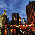 Chicago River Twilight 002 by Lance Vaughn