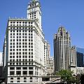 Chicago River Walk Wrigley And Tribune by Thomas Woolworth