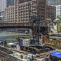 Chicago- Riverwalk Construction by Greg Thiemeyer