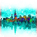 Chicago Skyline Abstract by Bekim Art