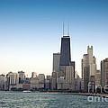 Chicago Skyline And Lake by Linda Matlow