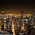 Chicago Skyline At Night I by Mark Olshefski