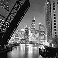 Chicago Skyline - Black And White Sears Tower by Horsch Gallery