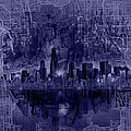Chicago Skyline Blueprint by Bekim M