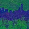 Chicago Skyline Brick Wall Mural 2 by Brian Reaves