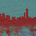 Chicago Skyline Brick Wall Mural  by Brian Reaves