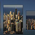 Chicago Skyline From Willis Tower by Christine Till