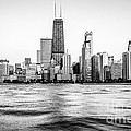 Chicago Skyline Hancock Building Black And White Photo by Paul Velgos