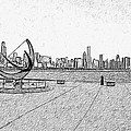 Chicago Skyline Hard Ink by David Lange