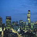 Chicago Skyline May 1983 Twilight by Lee Newell