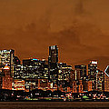 Chicago Skyline Panorama At Dusk by Ken Smith