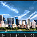 Chicago Skyline Panorama Poster by Christopher Arndt
