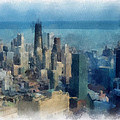 Chicago Skyline Photo Art 06 by Thomas Woolworth