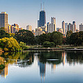 Chicago Skyline Reflection by Chris Smith