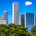 Chicago Skyline With Grant Park Trees by Paul Velgos