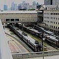 Chicago - South Shore Train Yard by Greg Thiemeyer