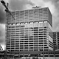 Chicago Sun Times Facade After The Storm Bw by Thomas Woolworth